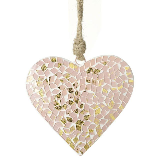Parlane Mosaic Hanging Heart Decoration