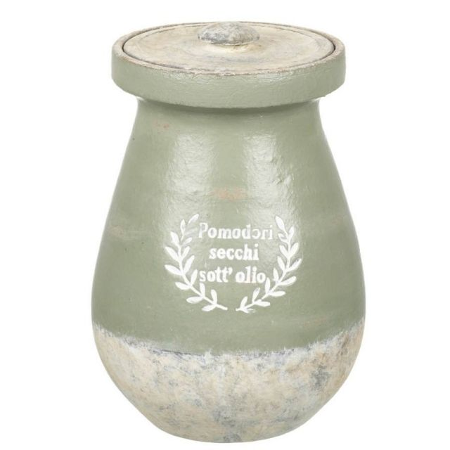 Parlane Jar Pomodori Green And Grey Height 23cm
