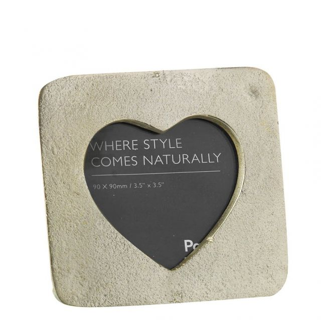 Parlane Photo Frame Heart Champagne Gold - S