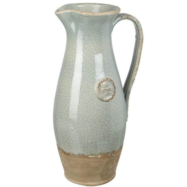 Parlane Pitcher Vino Crackle Pale Green Height 42cm