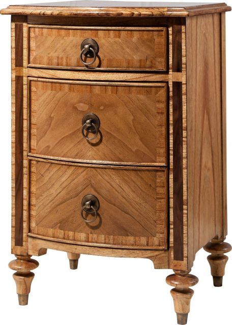 Pavilion Chic Bedside Cabinet Valletta with drawers