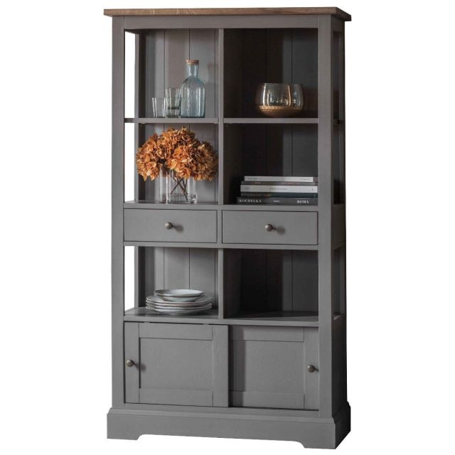 Pavilion Chic Bookcase Huntley in Grey