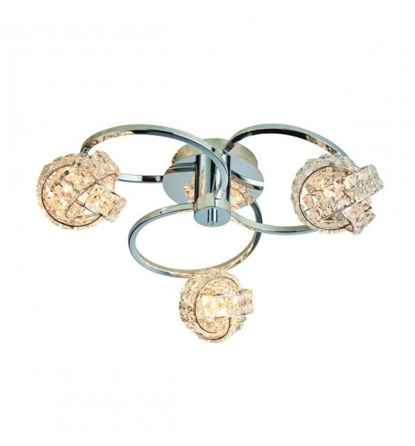 Pavilion Chic Ceiling Light Appollo Crystal