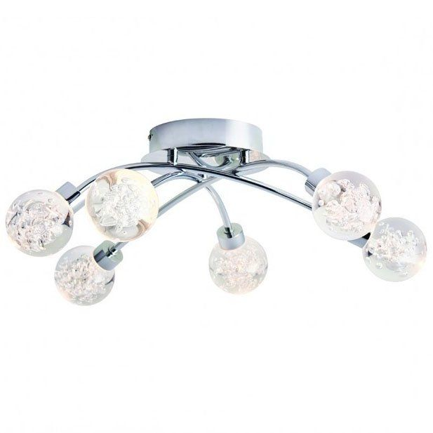 Pavilion Chic Ceiling Light Appollo with Crystal Balls