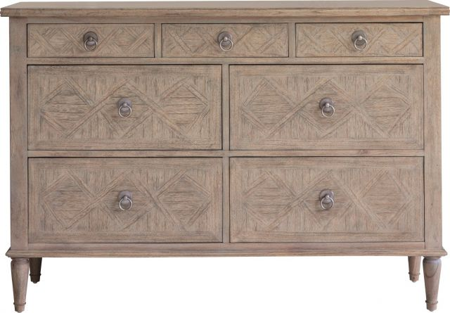 Pavilion Chic Chest of Drawers Cotswold with 7 Drawers