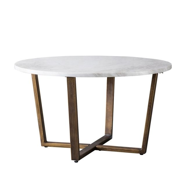 Pavilion Chic Coffee Table Charlbury in White Marble