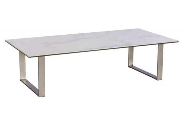Pavilion Chic Coffee Table in White Ceramic Marble