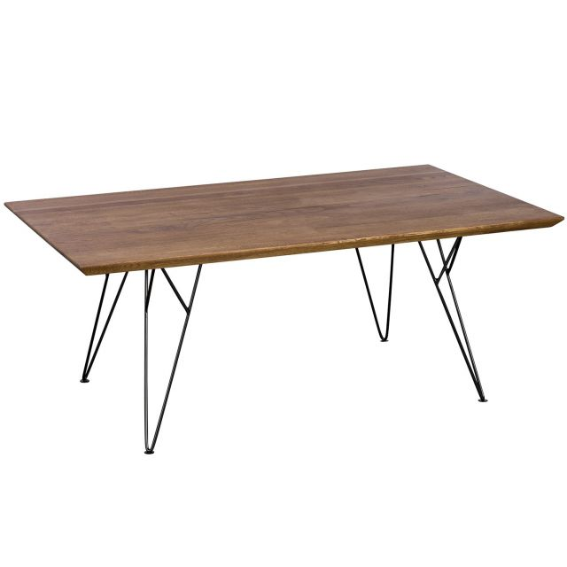 Pavilion Chic Coffee Table Slight in Oiled Oak