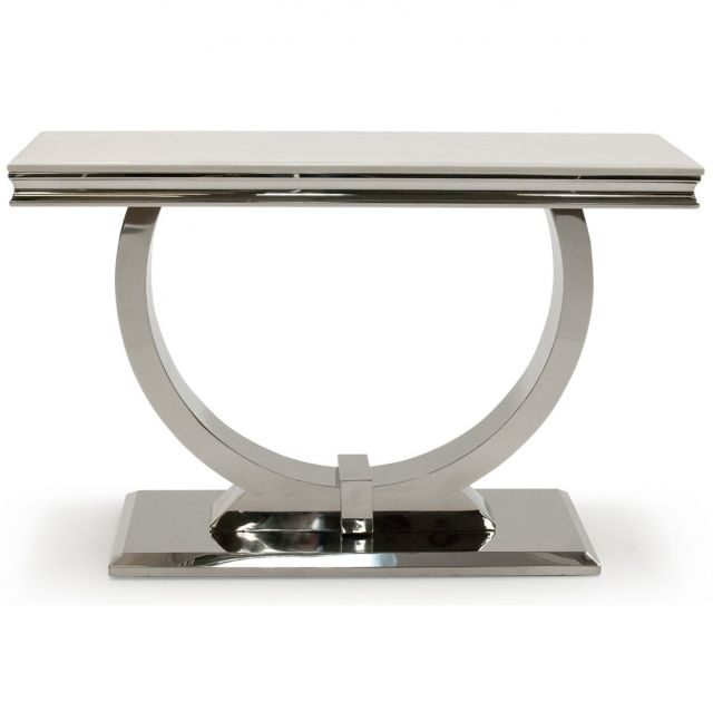 Pavilion Chic Console Table Ely in Marble