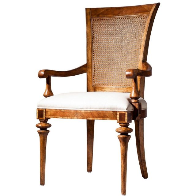 Pavilion Chic Dining Arm Chair Valletta with Cane Back
