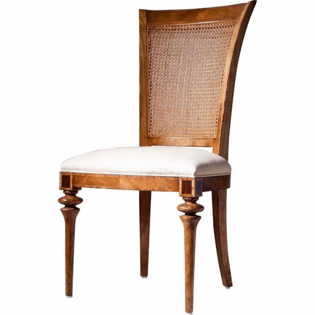 Pavilion Chic Dining Side Chair Valletta with Cane Back