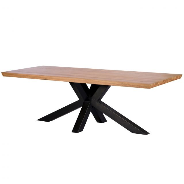 Pavilion Chic Dining Table Hoxton in Lacquered Oak