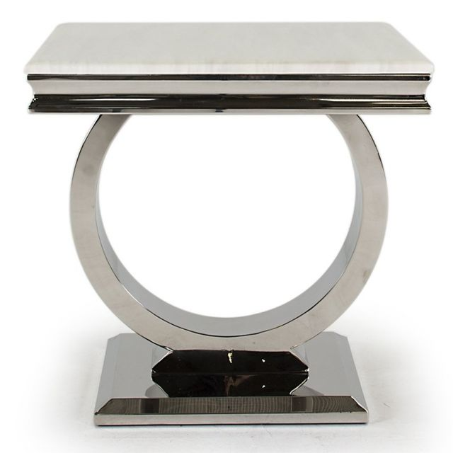Pavilion Chic Side Table Ely in Marble