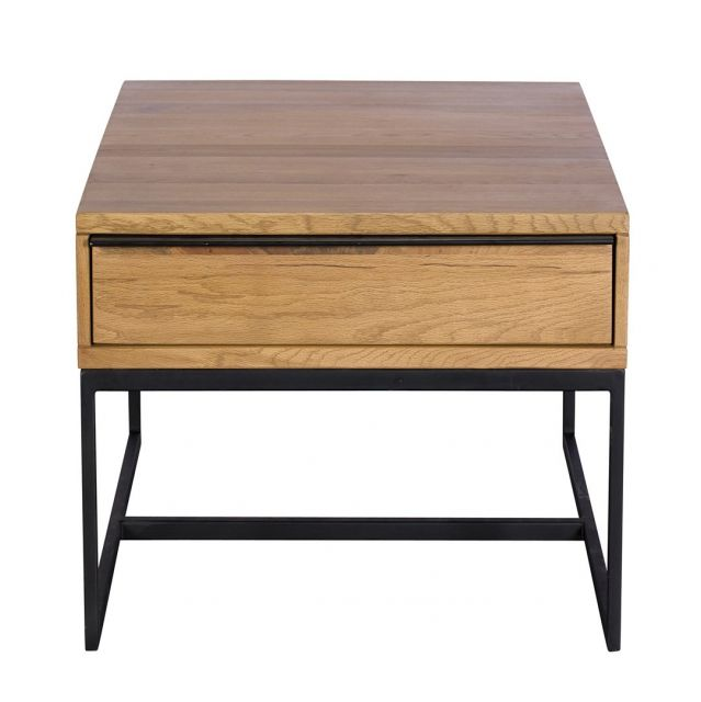 Pavilion Chic End Table Shoreditch in Lacquered Oak