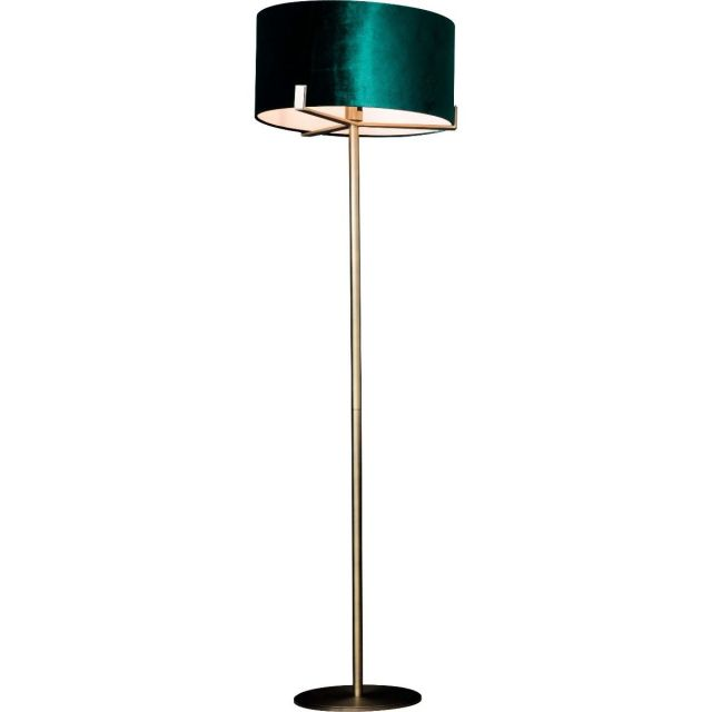 Pavilion Chic Floor Lamp Storm with Emerald Shade