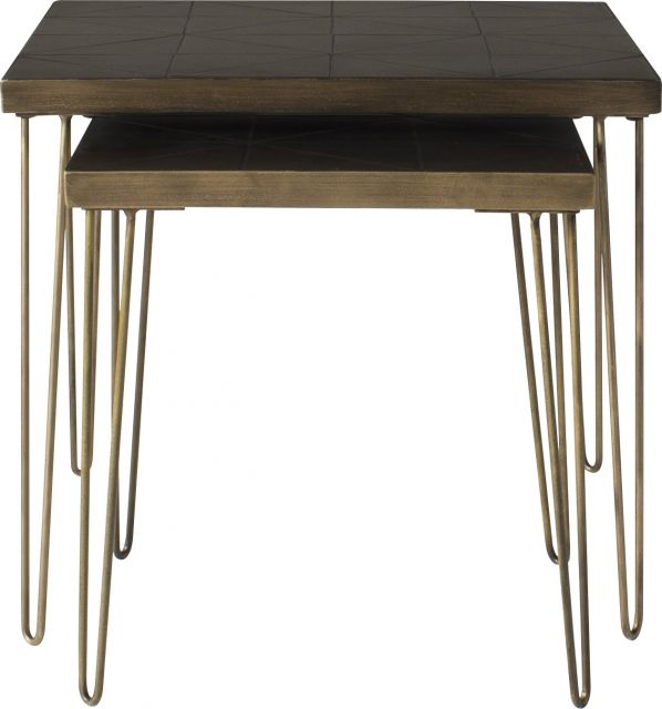 Pavilion Chic Nest of 2 Tables Athens with Tile Top