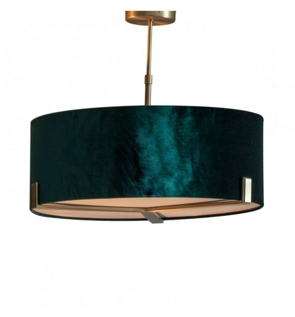 Pavilion Chic Pendant Light Storm Emerald Shade