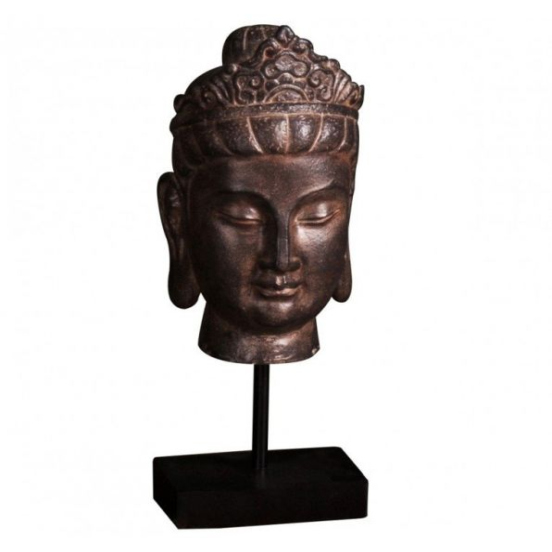 Pavilion Chic Statue Buddha Head Onga on Base