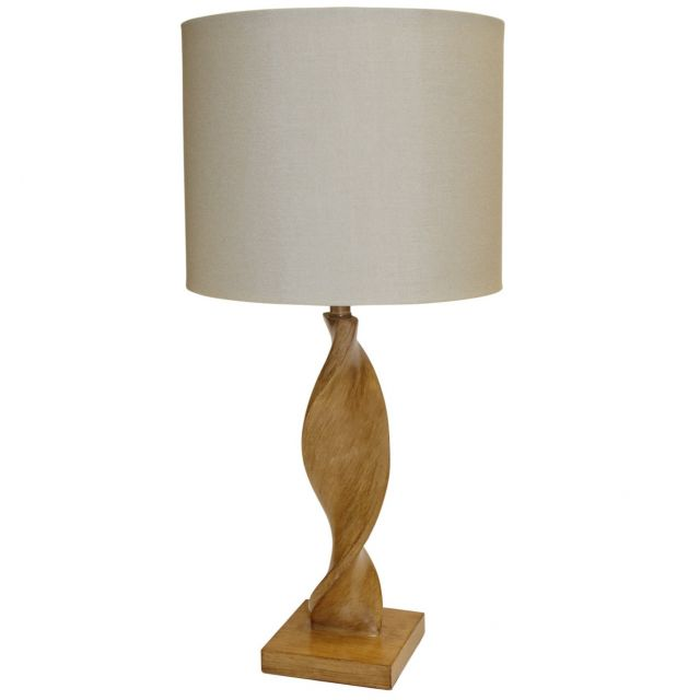 Pavilion Chic Table Lamp Arius in Natural Wood