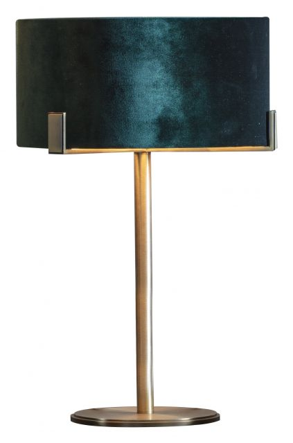 Pavilion Chic Table Lamp Storm with Emerald Shade