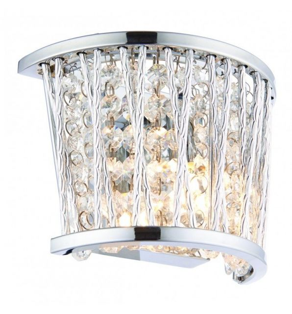 Pavilion Chic Wall Light Sophia Crystal Silver