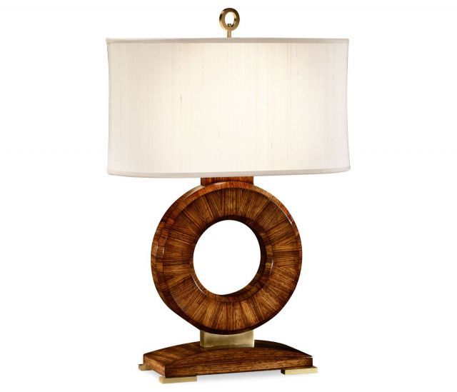 Jonathan Charles Table Lamp Porthole in Macassar Ebony