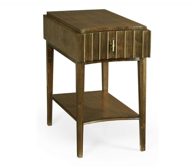 Jonathan Charles End Table with Drawer Reeded