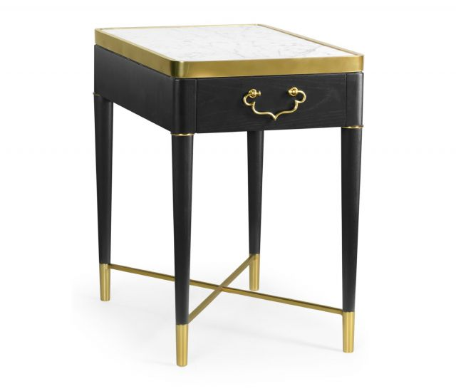 Jonathan Charles Side Table in Ebonised Oak