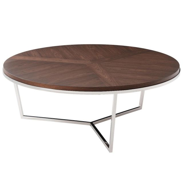 TA Studio Round Coffee Table Fisher - Macadamia Black