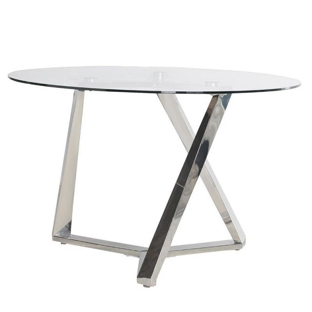 Pavilion Chic Round Dining Table Fort with Glass Top