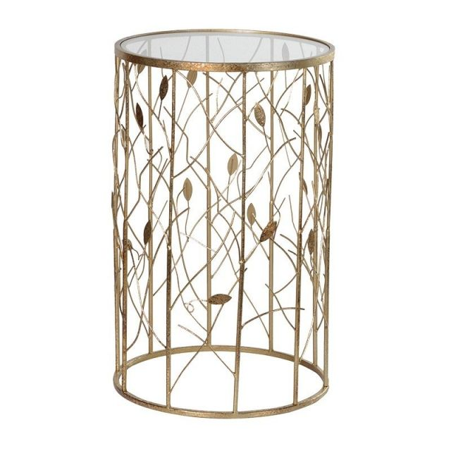 Pavilion Chic Round Side Table Vine