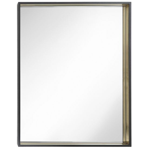 RV Astley Wall Mirror Alyn with Brass Trim