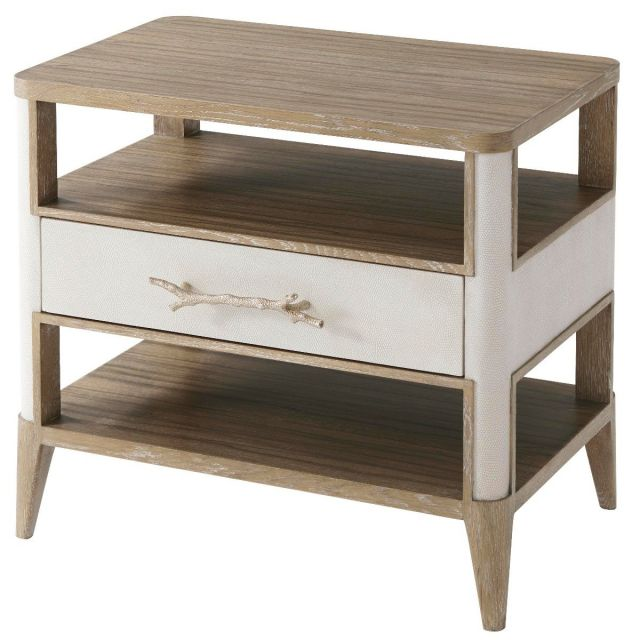 Theodore Alexander Side Table Brandon in Champagne