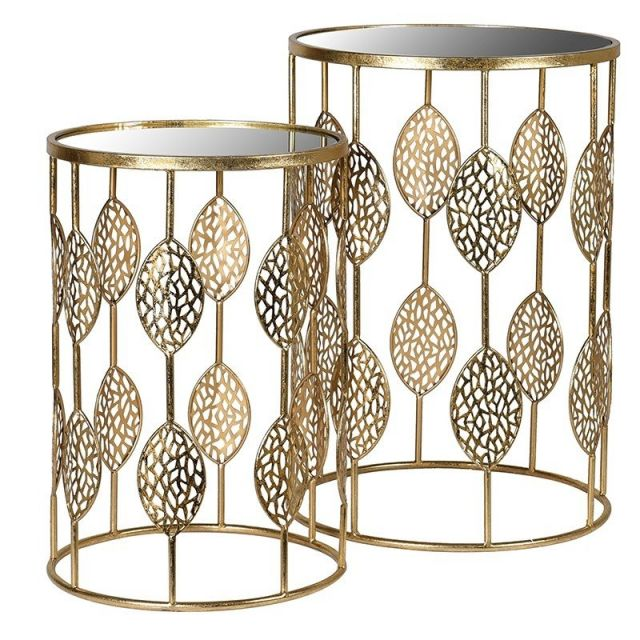 Pavilion Chic Side Table Set of 2 Vine