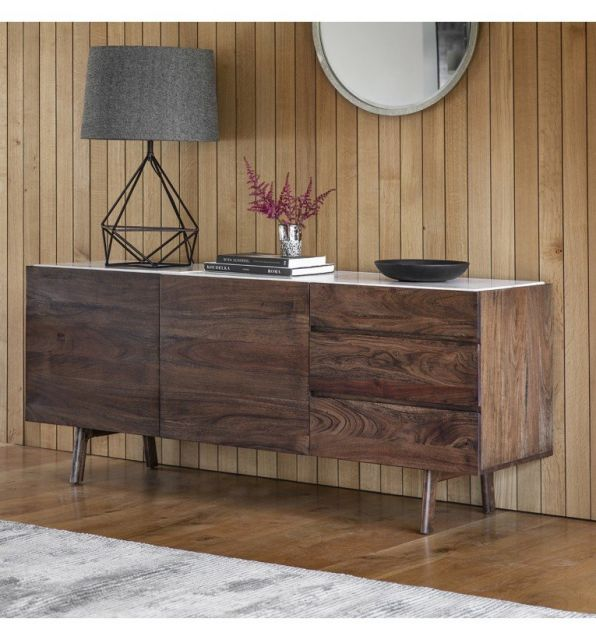 Pavilion Chic Sideboard Plaza with Marble Top