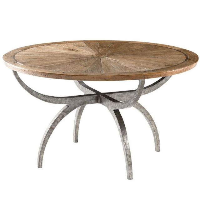 Theodore Alexander Small Round Dining Table Lagan in Echo Oak