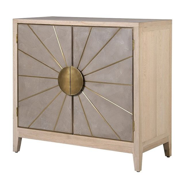 Pavilion Chic Small Sideboard Paris in Oak & Brushed Gold
