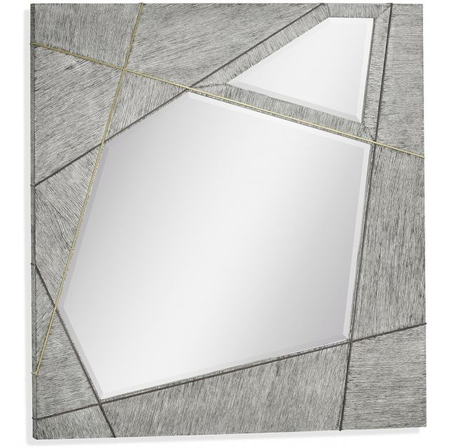Jonathan Charles Square Mirror Transitional