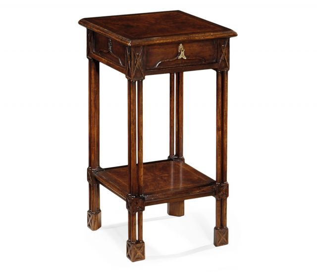 Jonathan Charles Square Side Table Chippendale Gothic