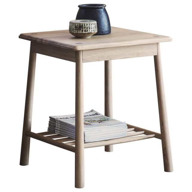 Pavilion Chic Square Side Table Nordic in Oak
