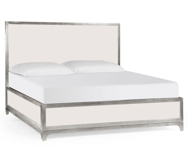 Jonathan Charles Super King Bed Frame Suit with Silver Base