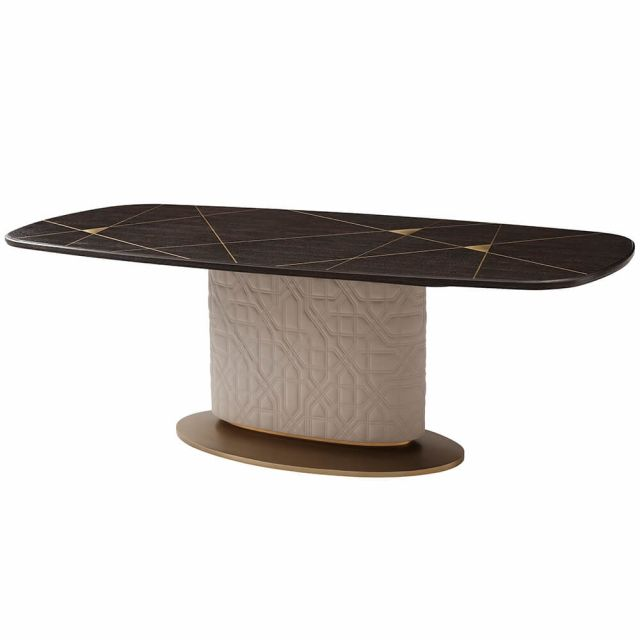 Theodore Alexander Colter Dining Table in Leather