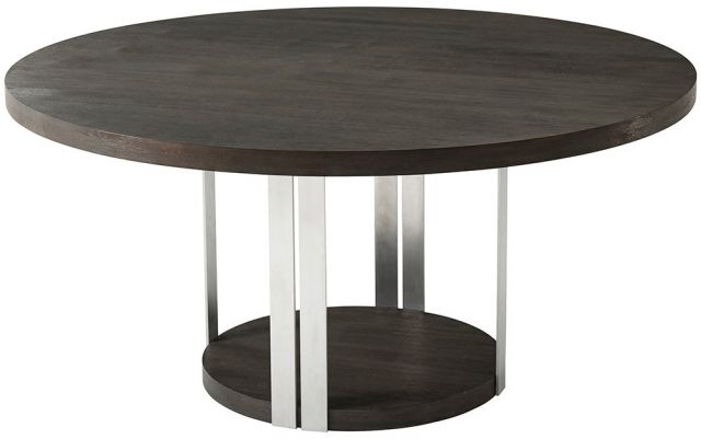 TA Studio Round Dining Table Tambura Large in Anise