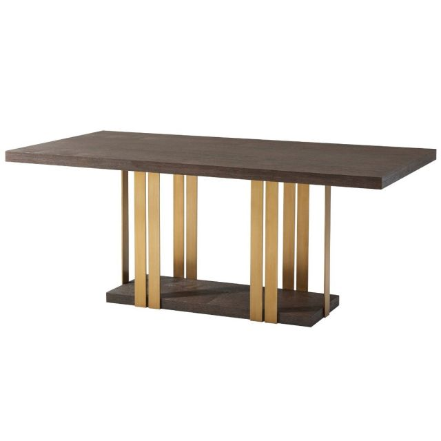 TA Studio Dining Table Tamar - Cardamon & Brass