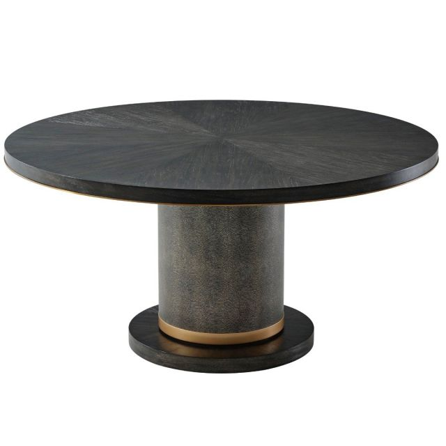 TA Studio Round Dining Table Sabon in Rowan with Brass Edge
