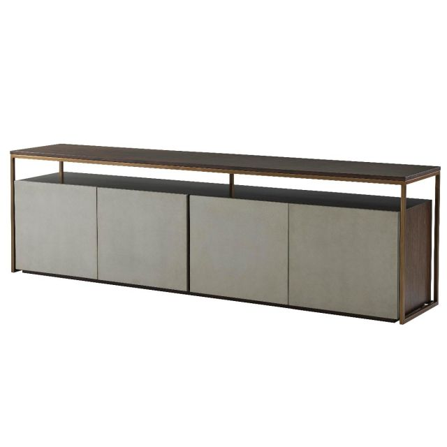TA Studio Large Media Console Alphonse in Almond
