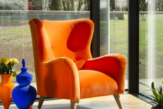 Tetrad Gaffer Wing Chair Made to Order
