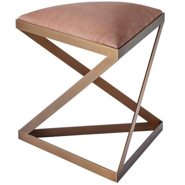 Theodore Alexander Triangular Stool Ada II in COM