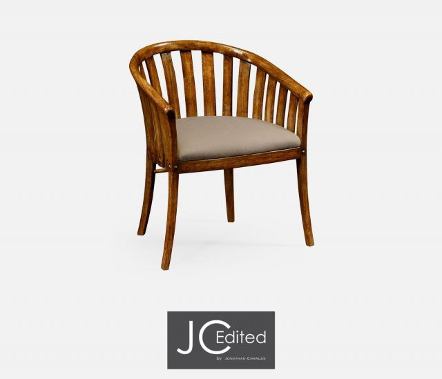 Jonathan Charles Tub Dining Chair Rustic in Mazo