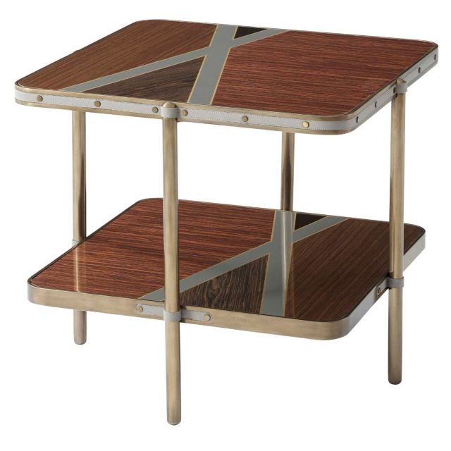 Theodore Alexander Two Tiered Side Table Iconic